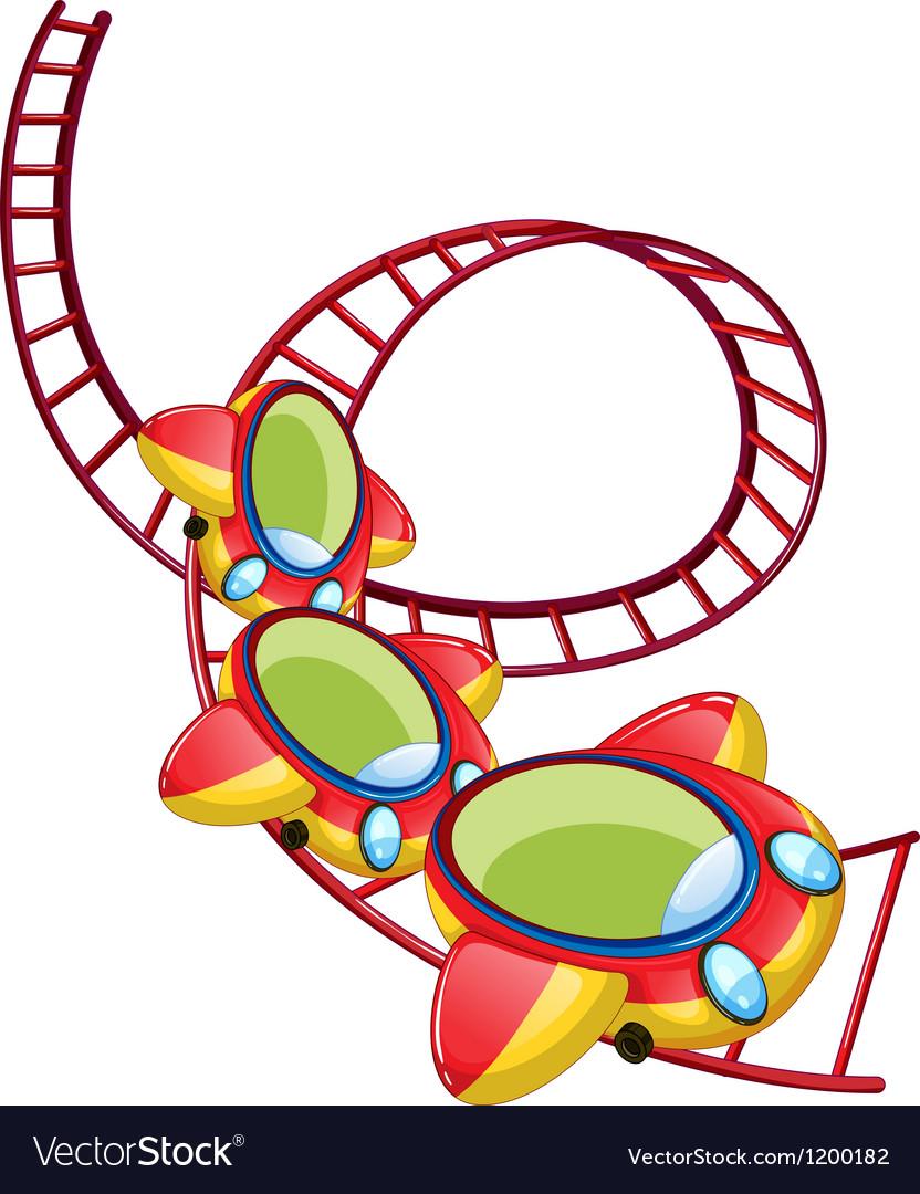 A roller coaster ride vector image