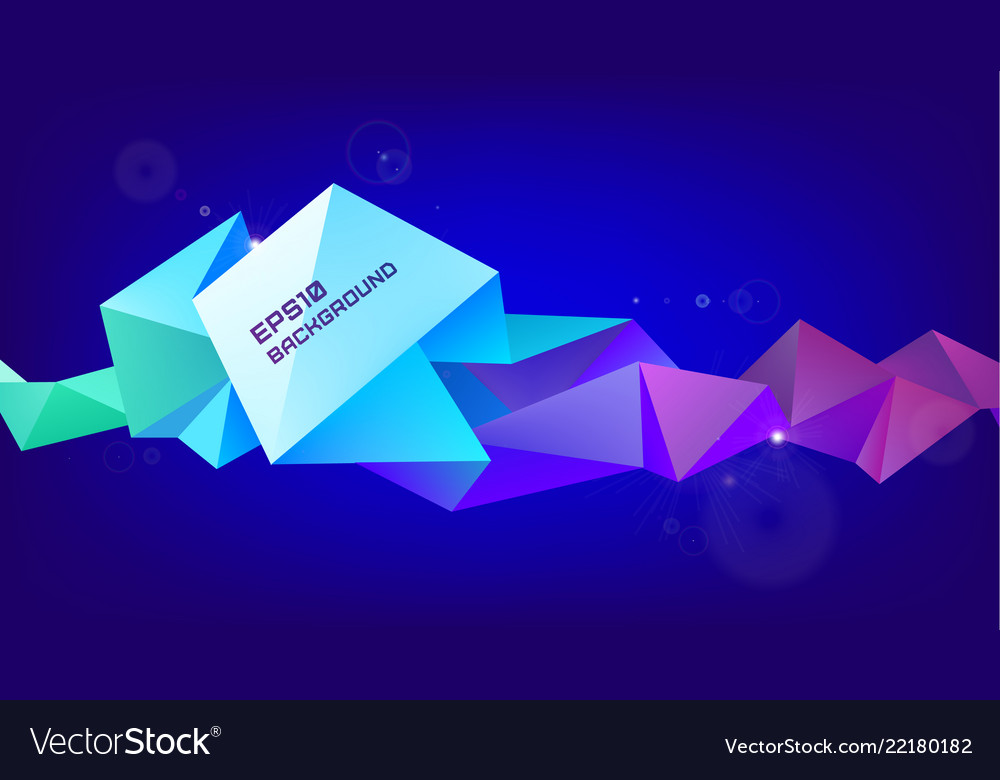 Astract 3d geometric shape isolated