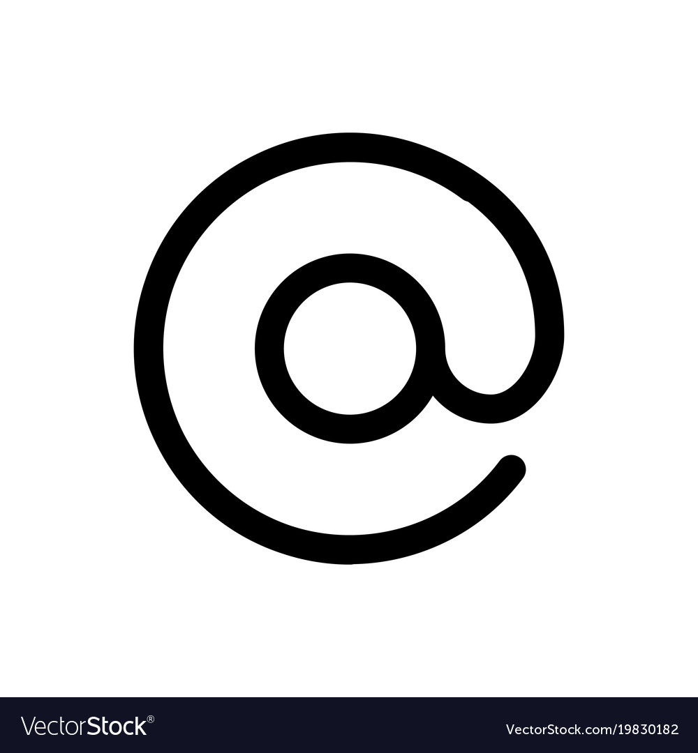 At email icon symbol of electronic mail Royalty Free Vector