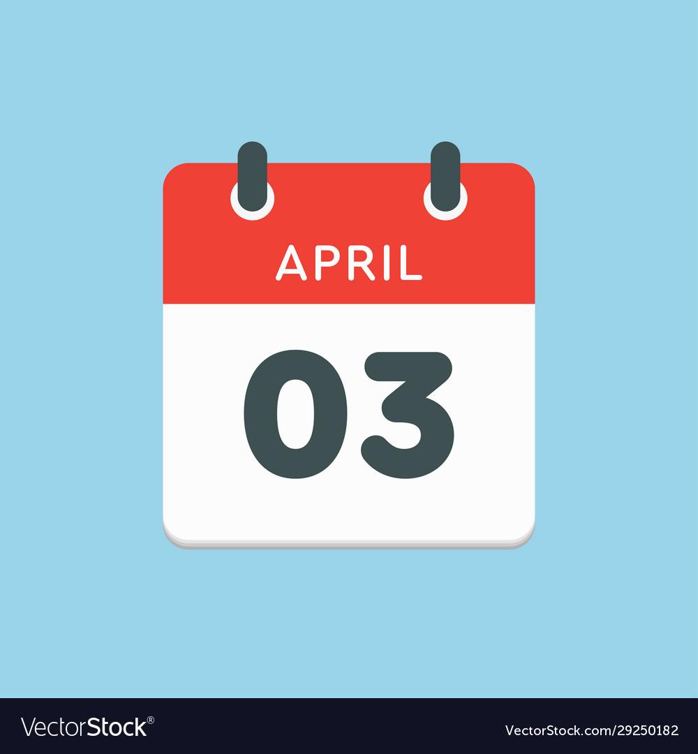 Calendar day 3 april days year