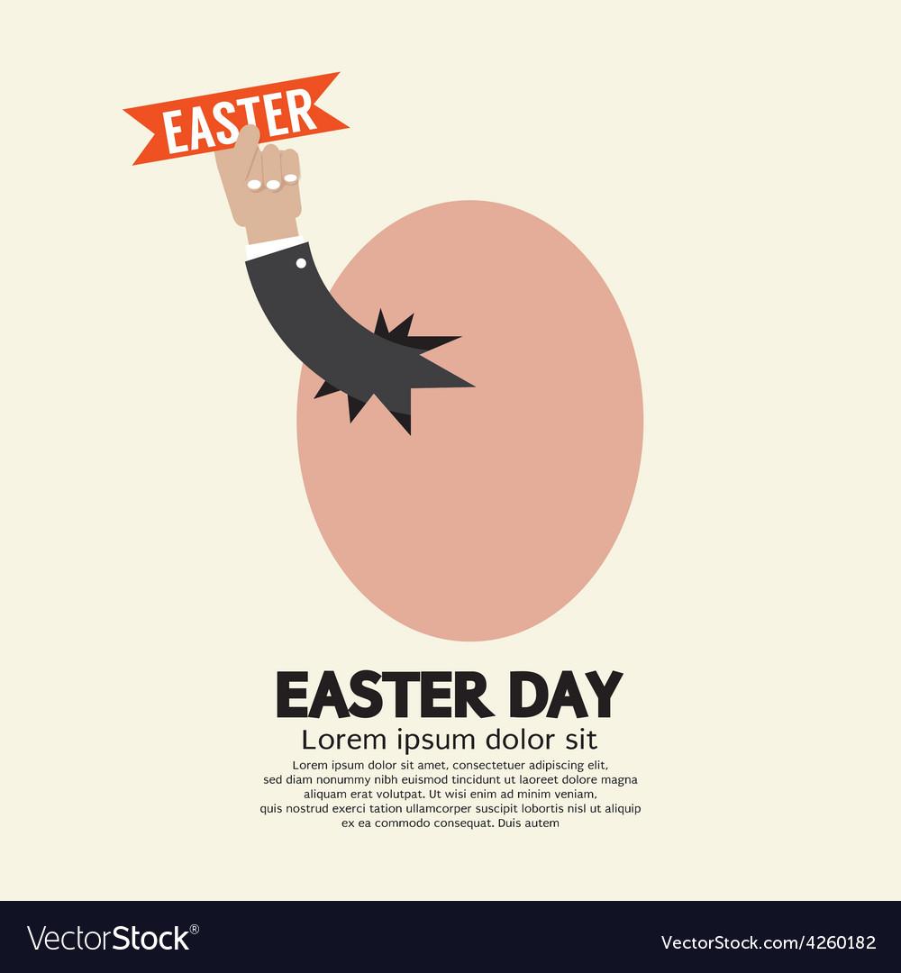 Hand Through An Egg Easter Day Concept