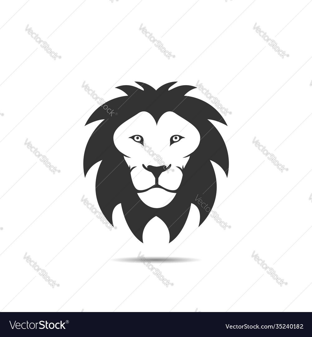 Lion icon logo template
