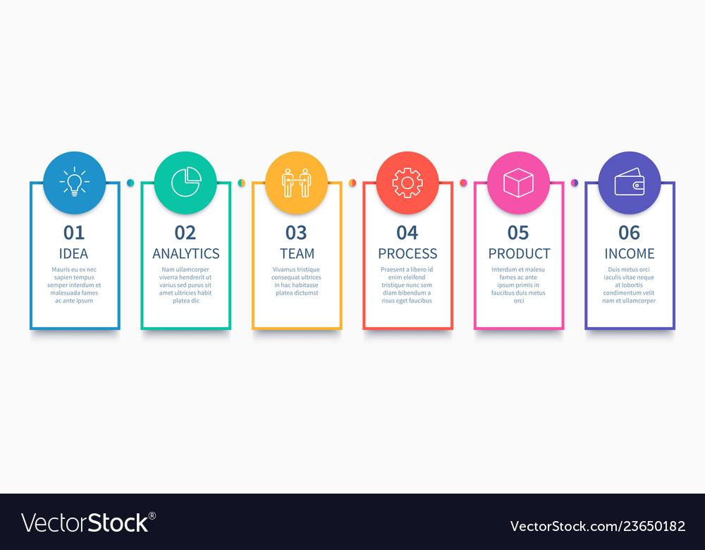 Process columns infographic business steps chart