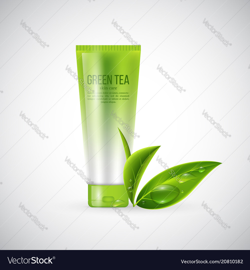 Realistic Mock Up For Cream Vector Image