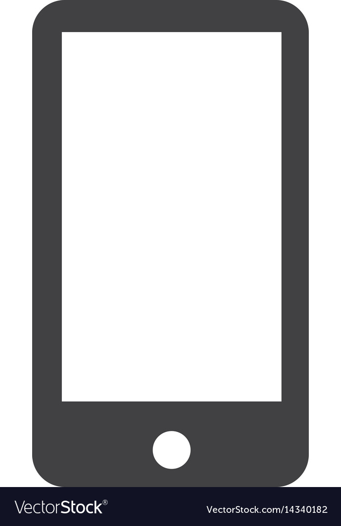 Smartphone icon on white background