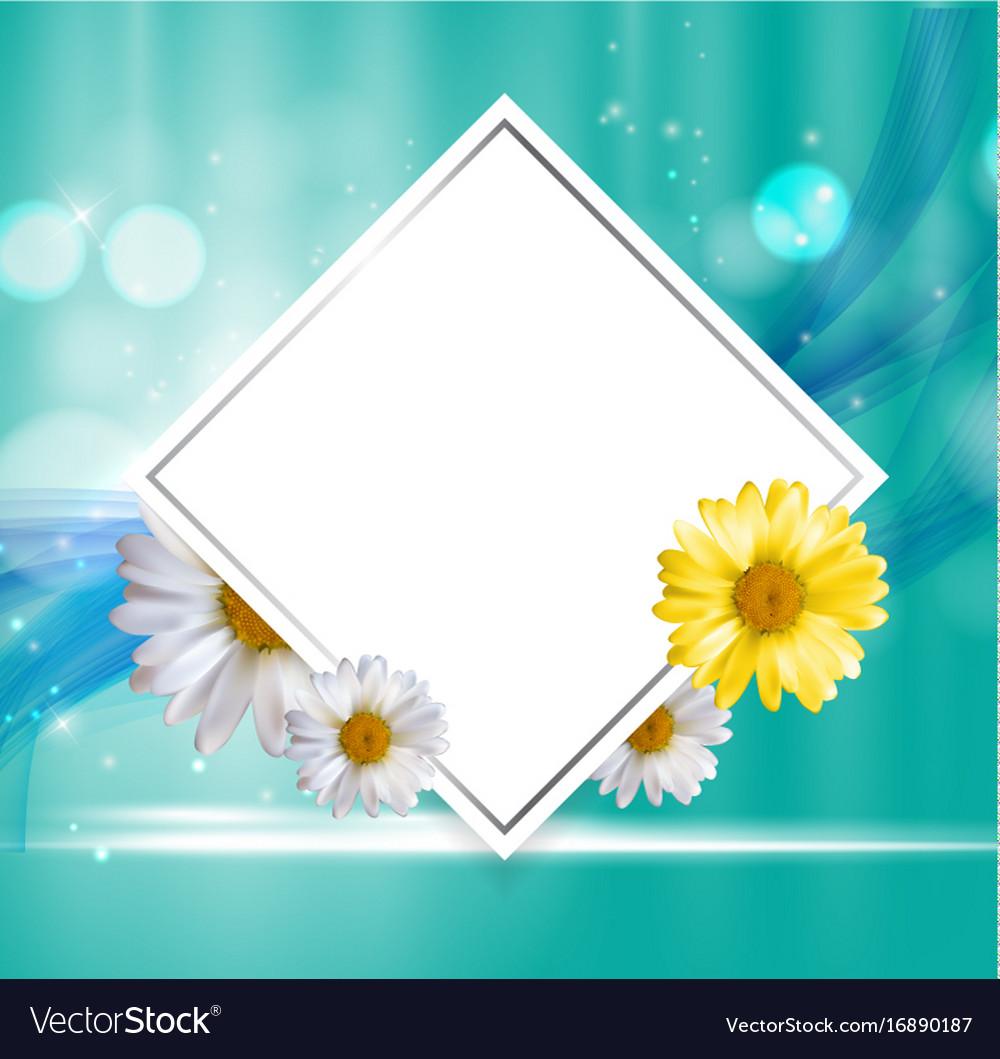 Abstract natural floral frame background wth