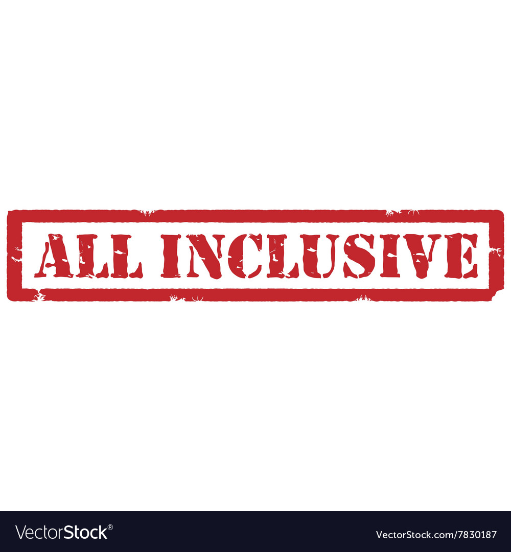 All inclusive stamp vector image