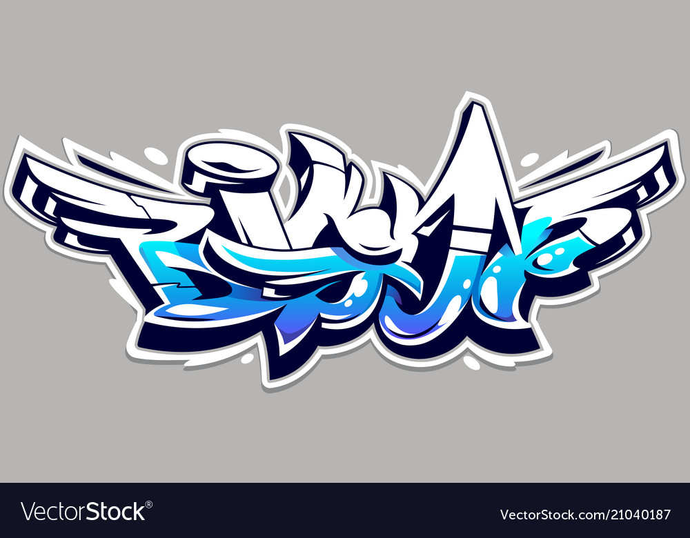 Big up graffiti lettering