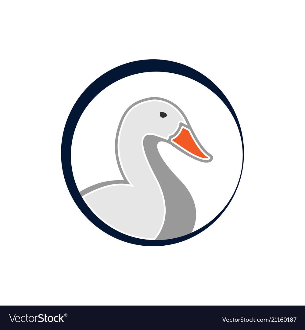 Circle duck logo template