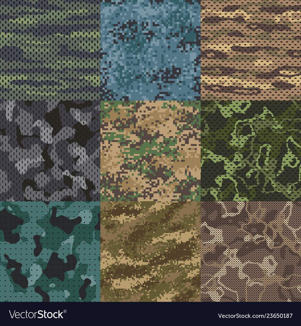 Khaki texture camouflage fabric seamless patterns