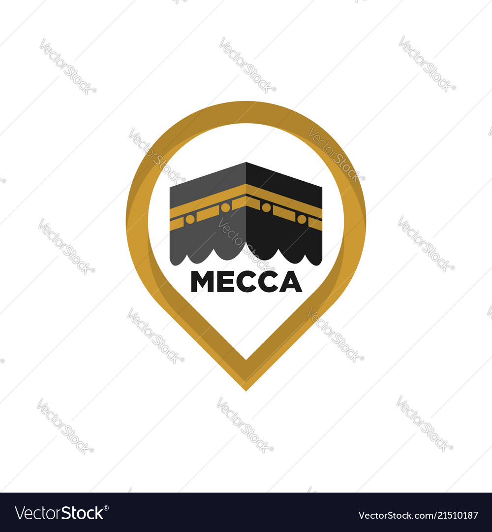 Mecca icon mecca sign kaaba symbol islamic icon