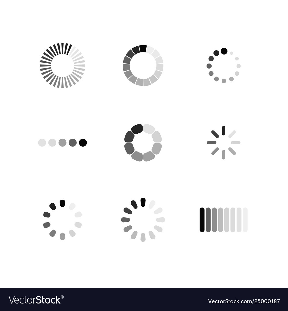 Set loading icon download sign collection of