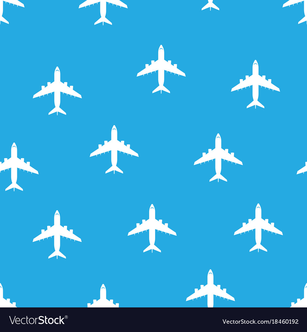 Airplane seamless pattern