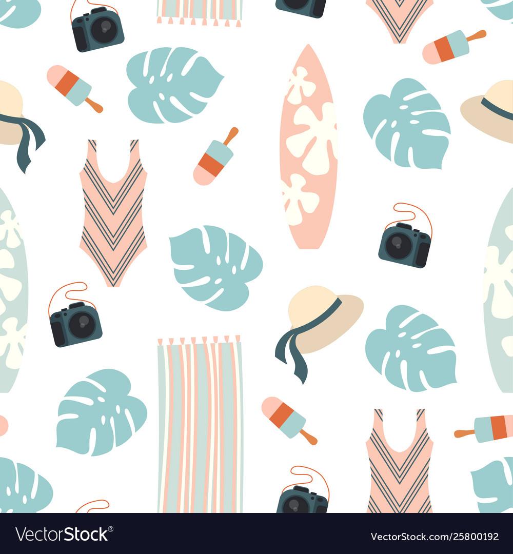 Beach holiday design pattern