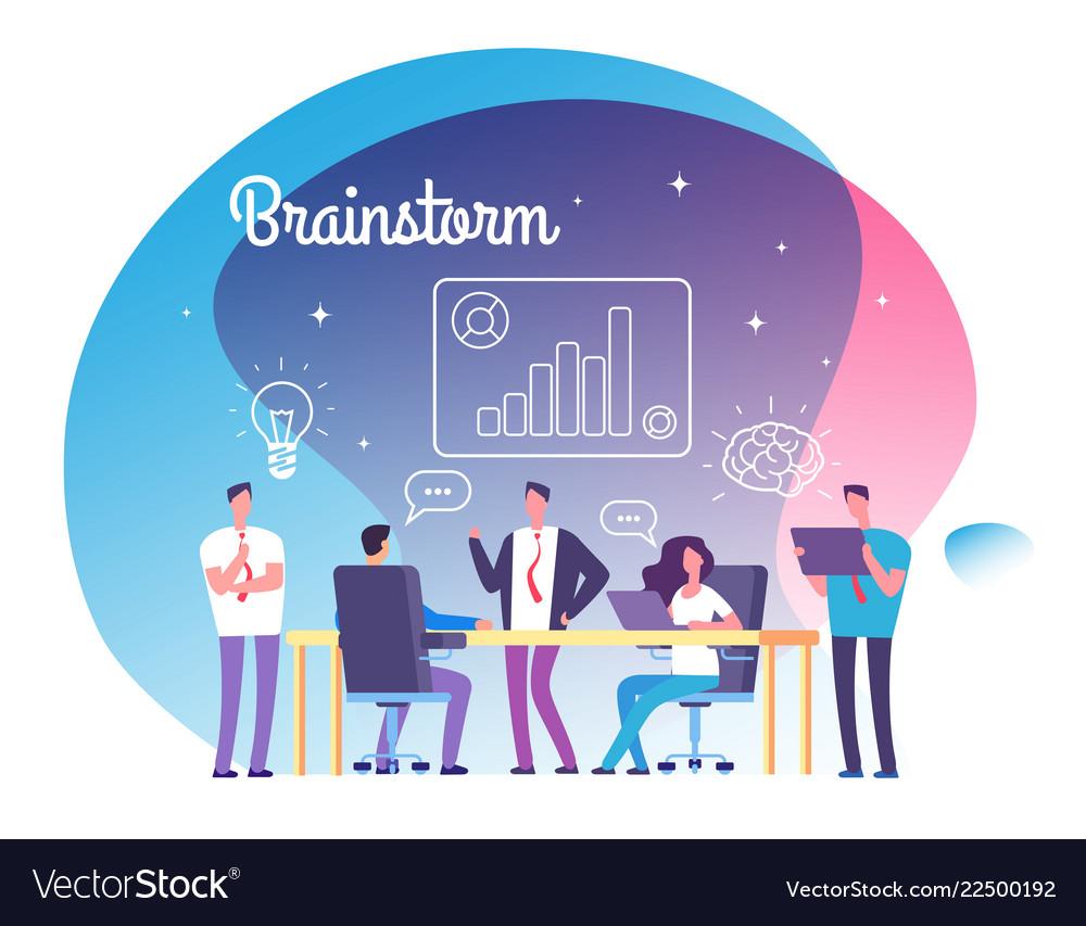 Brainstorming concept people meeting on workshop