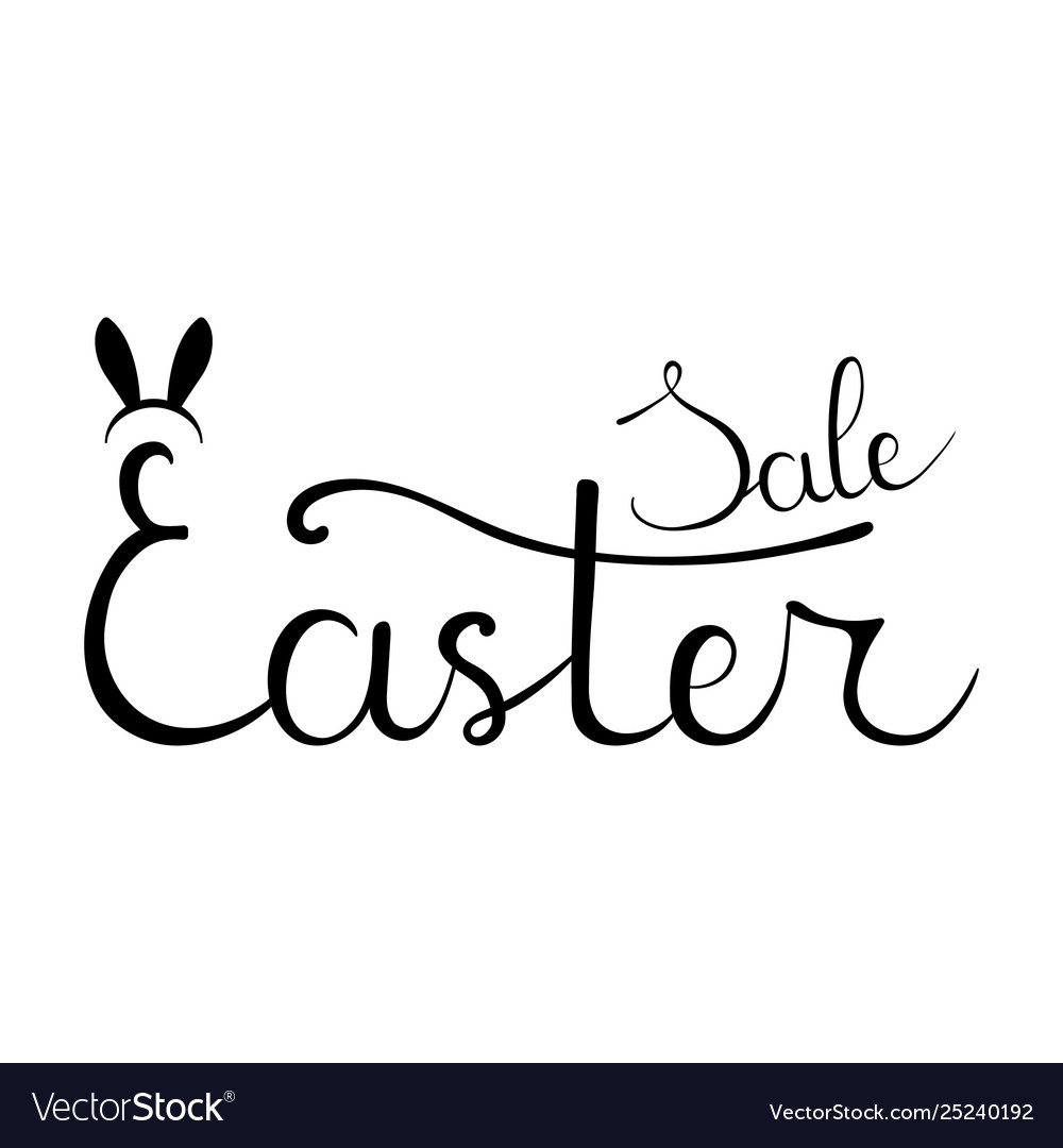 Easter sale hand drawn calligraphy lettering