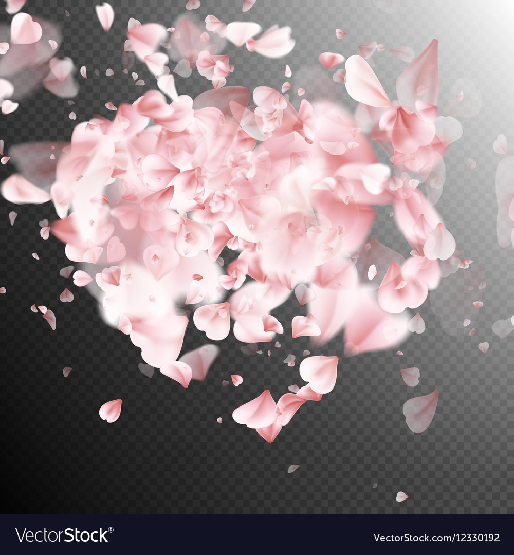 Heart Made Of Pink Flower Petals Eps 10 Royalty Free Vector