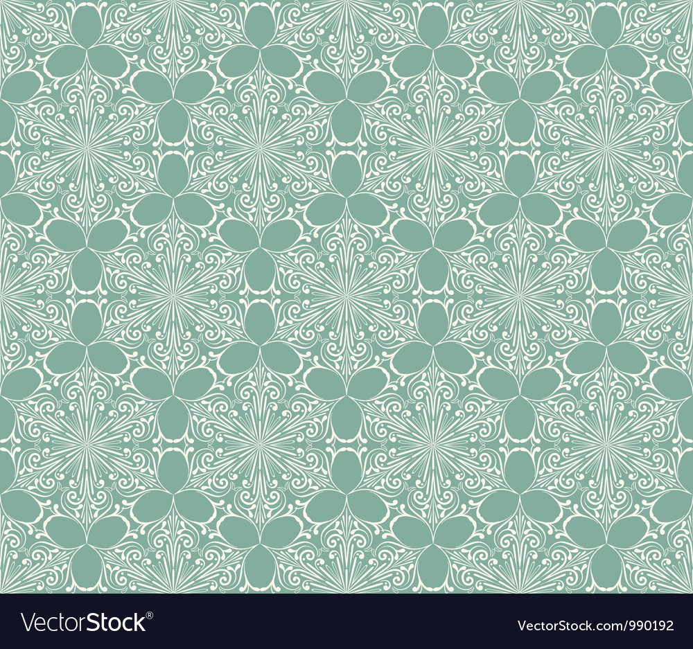 Seamless Lacy Winter Pattern with Snowflakes