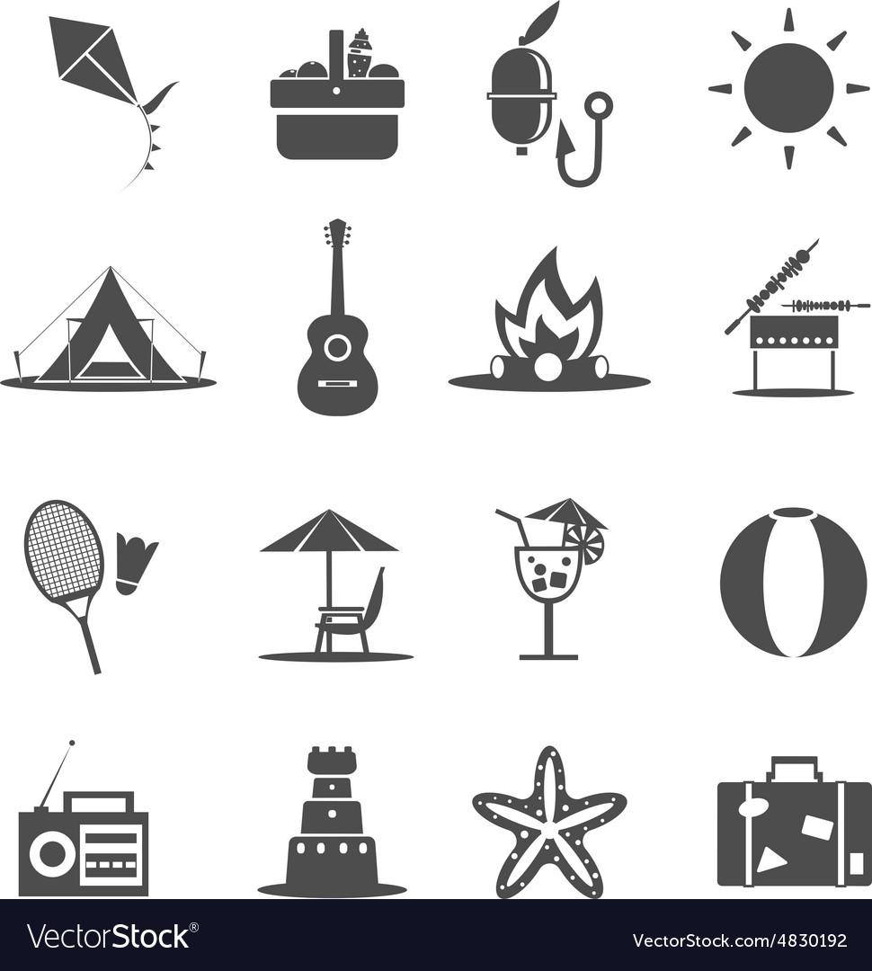 summer icon black royalty free vector image vectorstock vectorstock