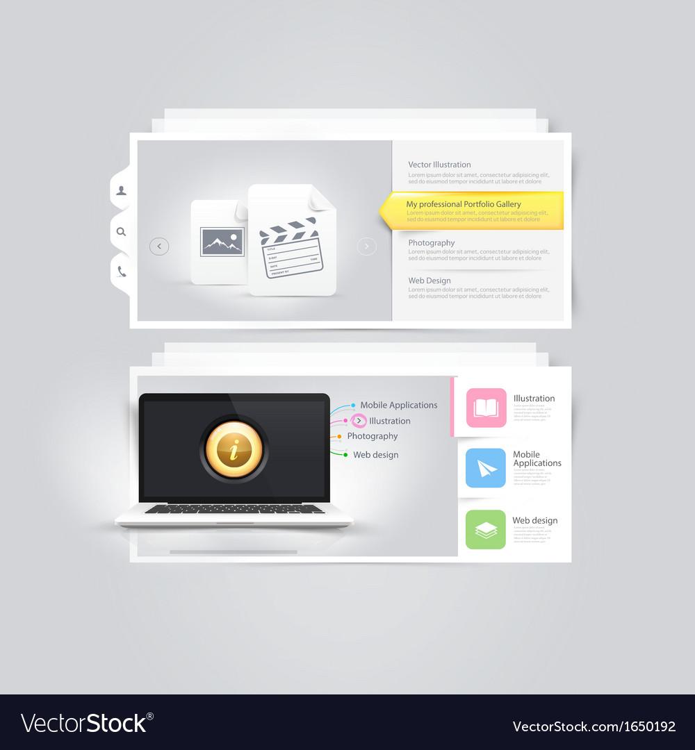 Website design elements portfolio template
