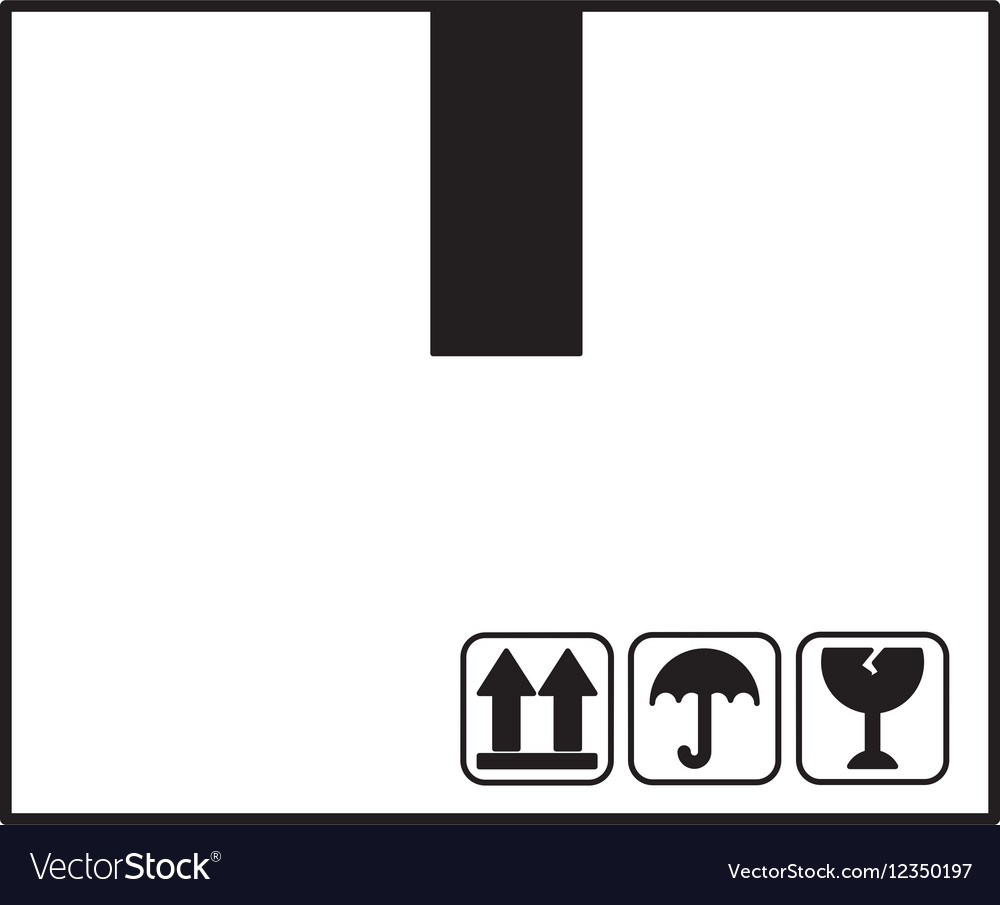 Box carton container isolated icon vector image