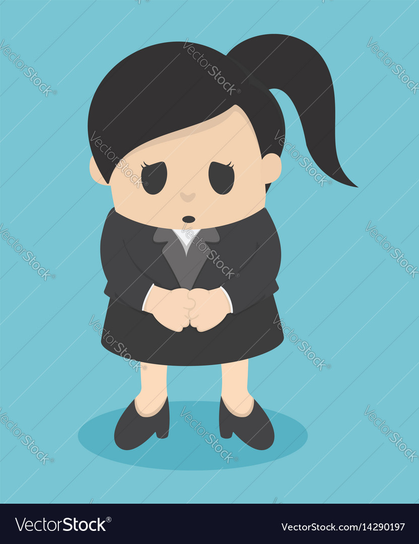 Business woman sorry vector image