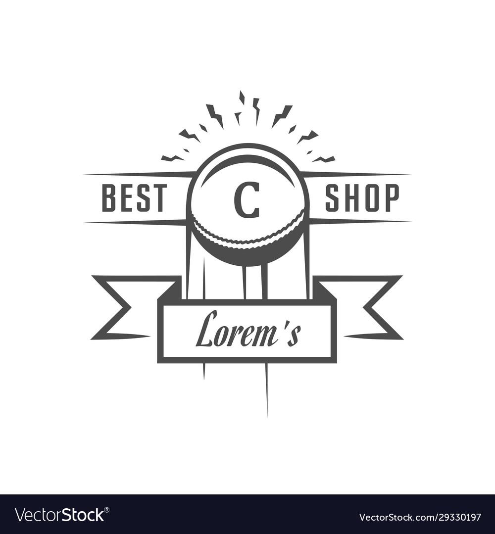 Cricket club logotype