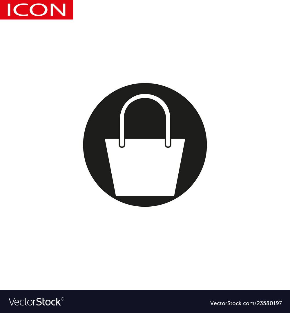 Shopping bag icon in trendy flat design
