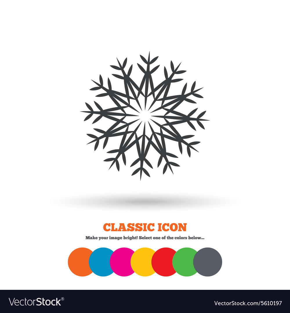 Snowflake artistic sign icon Air conditioning