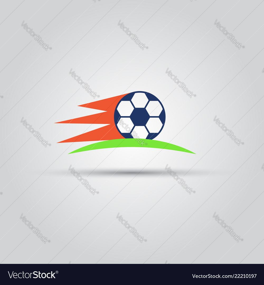 Soccer ball isolated colored icon