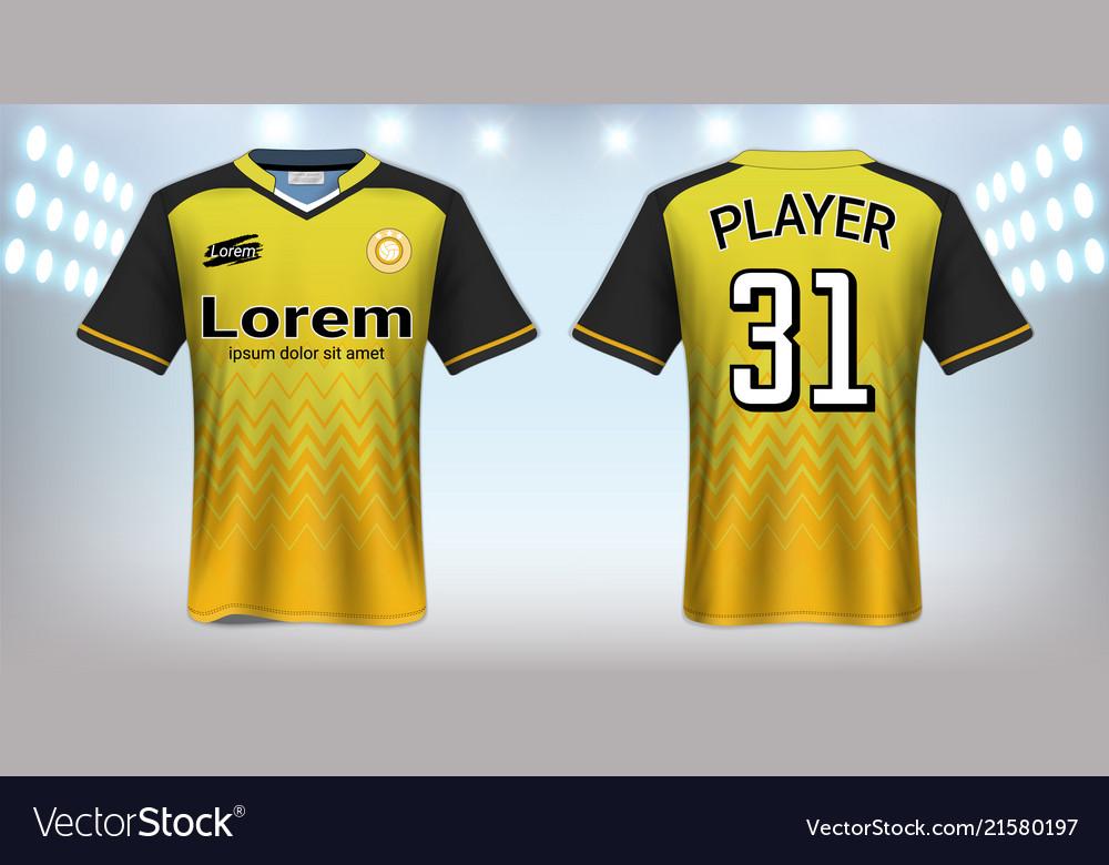soccer jersey mockup template vector 21580197