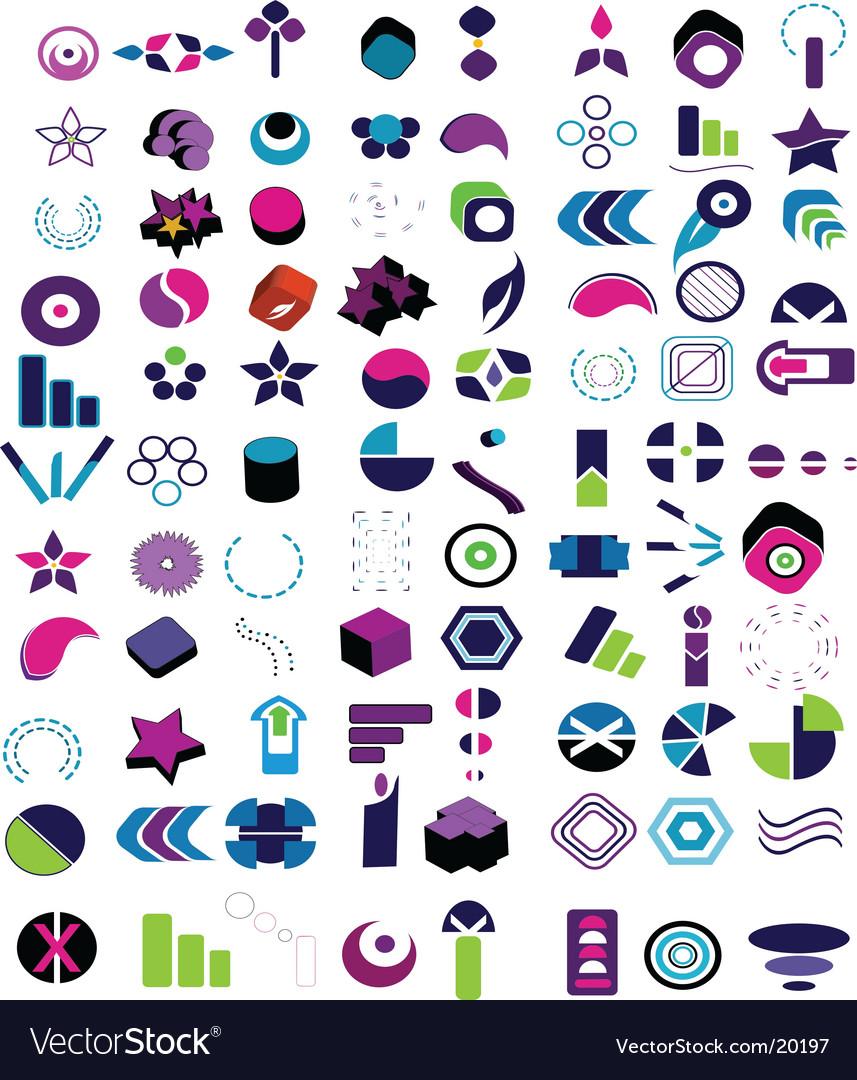 Tribal logos vector image