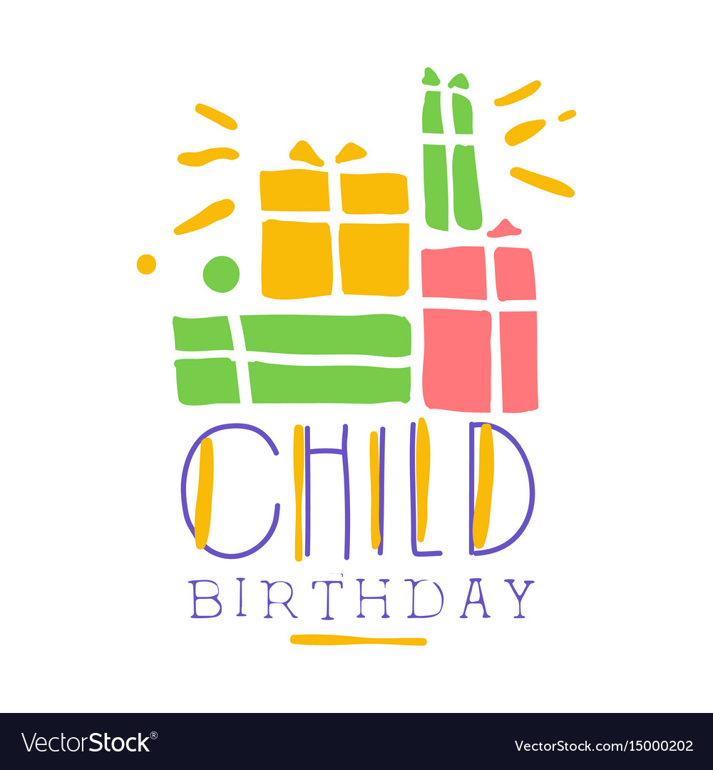 Child birthday promo sign childrens party