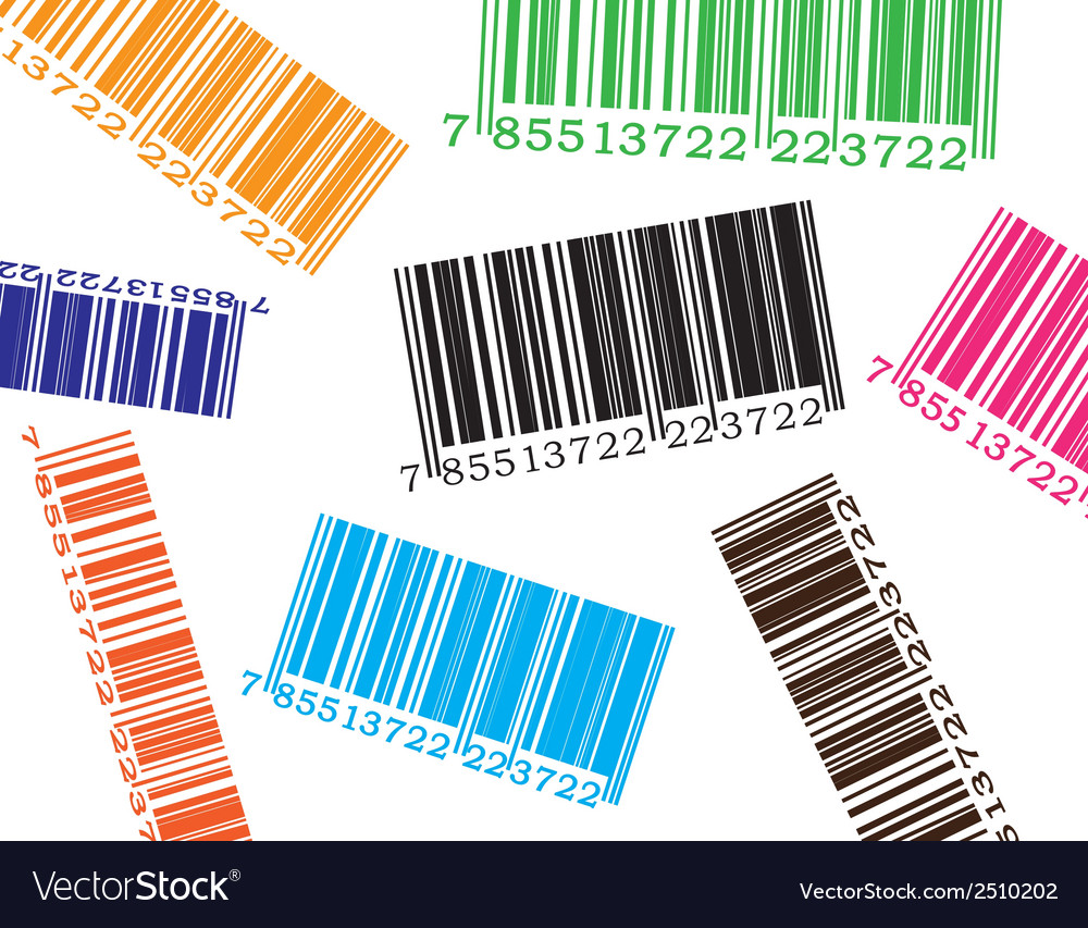 Color barcode vector image