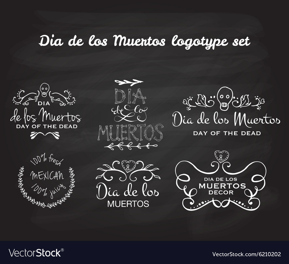 Day of the dead logotype set