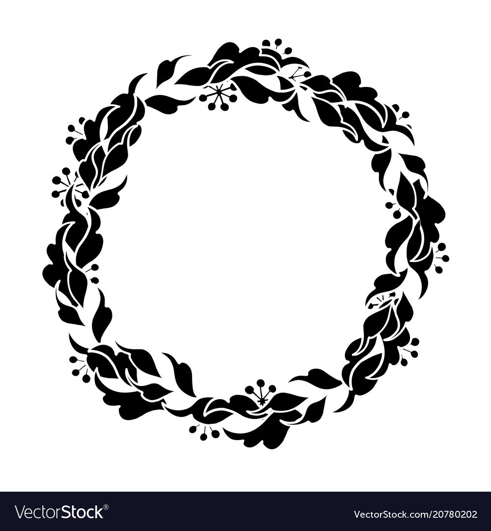 Graphic floral wreath royalty free vector image graphic floral wreath vector image mightylinksfo