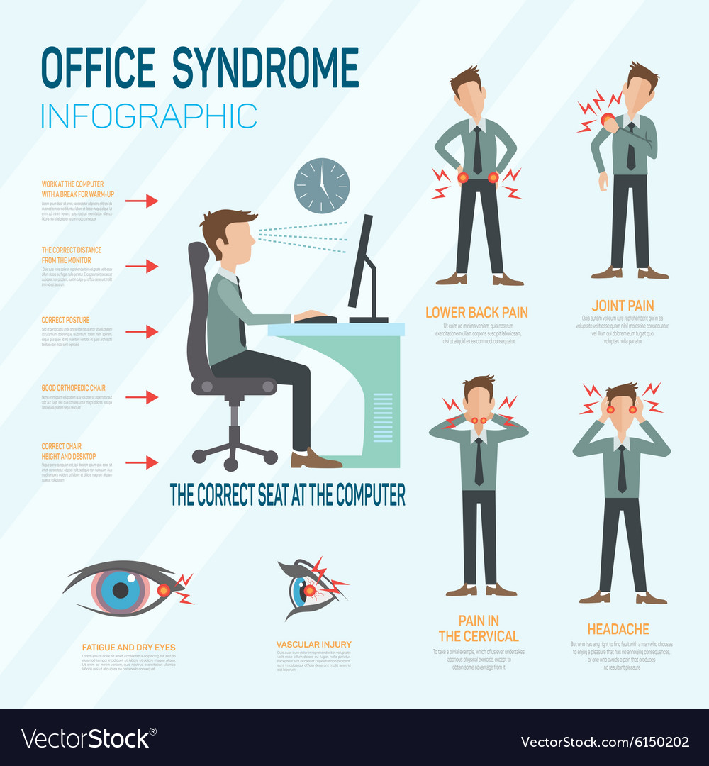 Infographic office syndrome Template Design