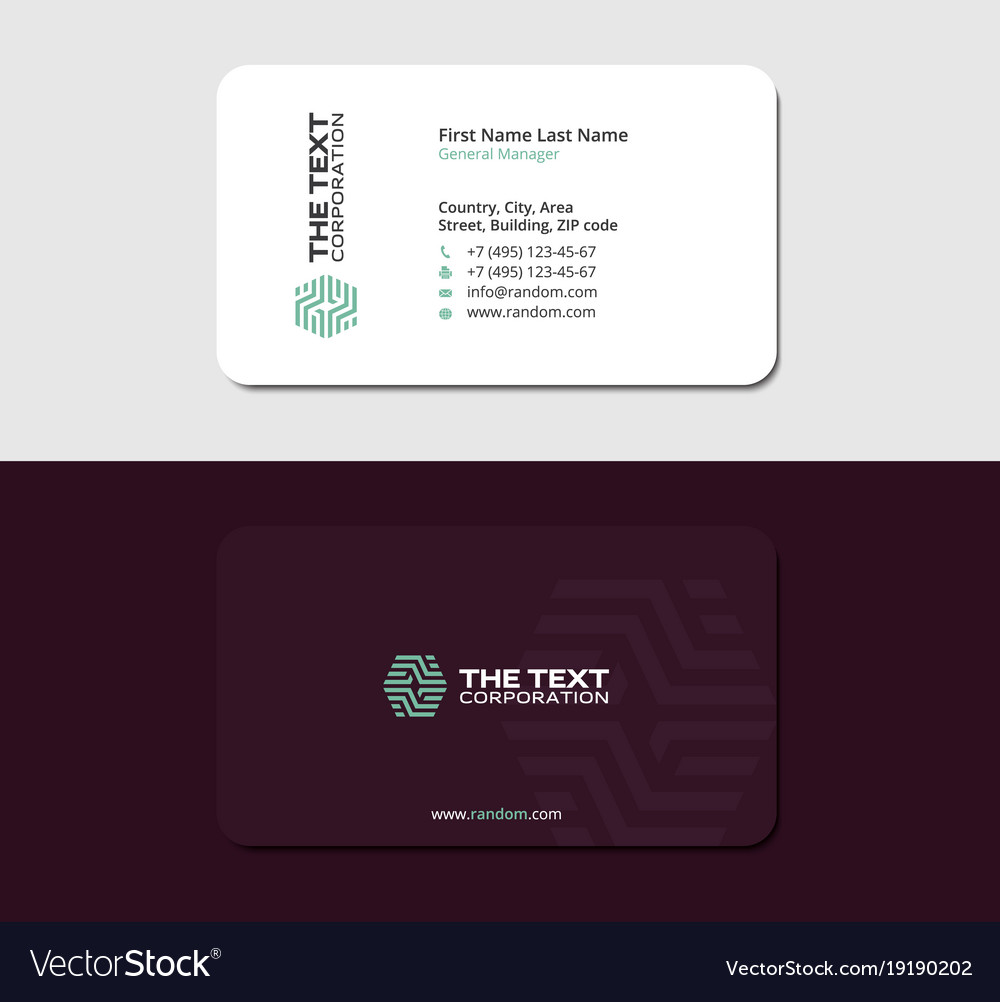 Laminated business card royalty free vector image laminated business card vector image colourmoves
