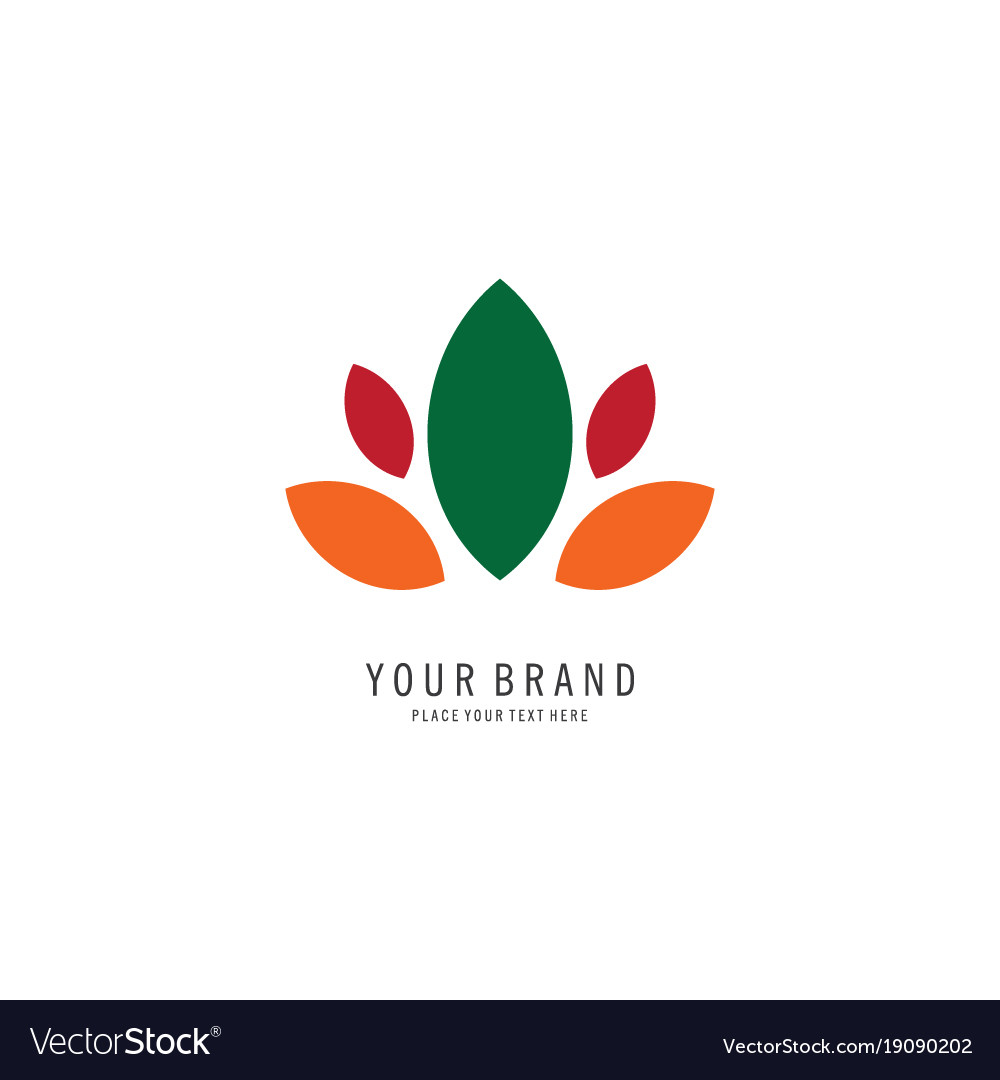 Leaf spa logo vector image