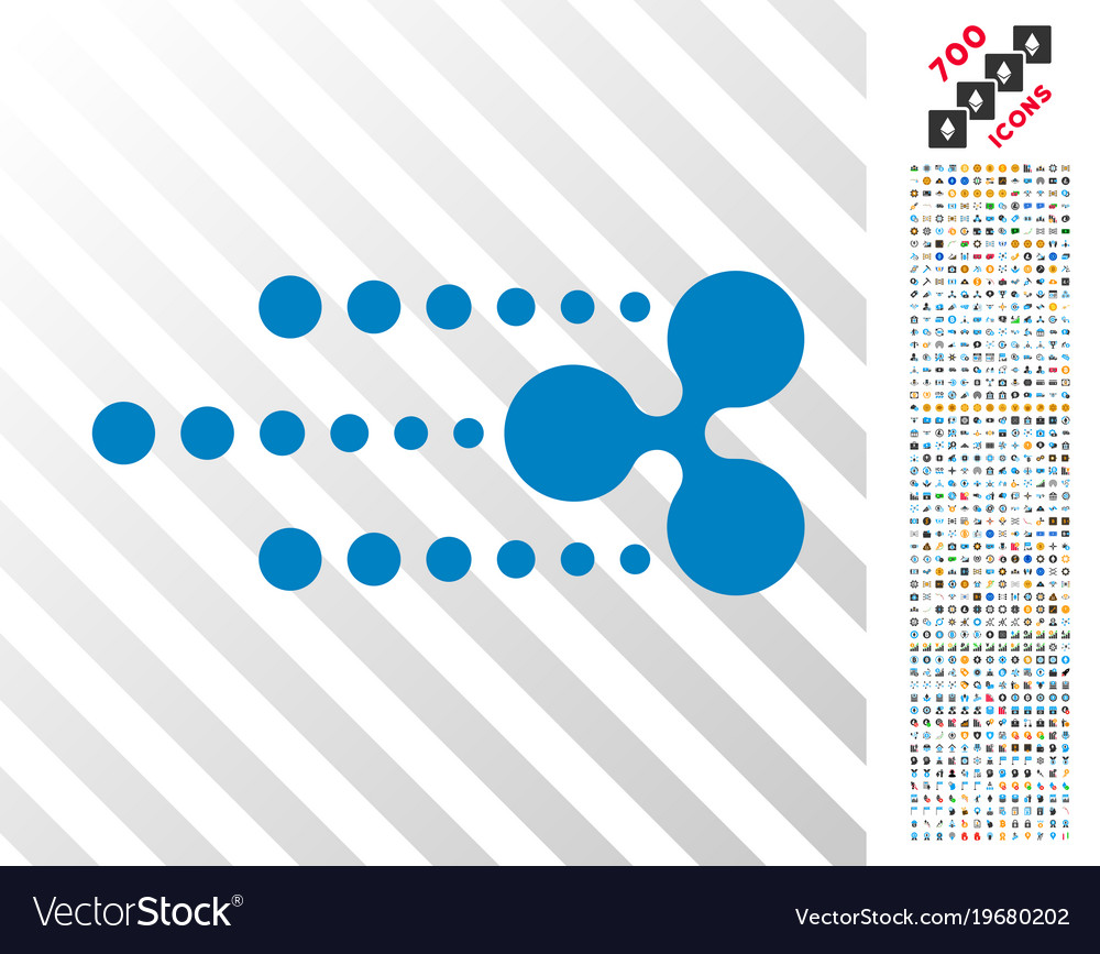 Ripple fast flat icon with bonus vector image on VectorStock