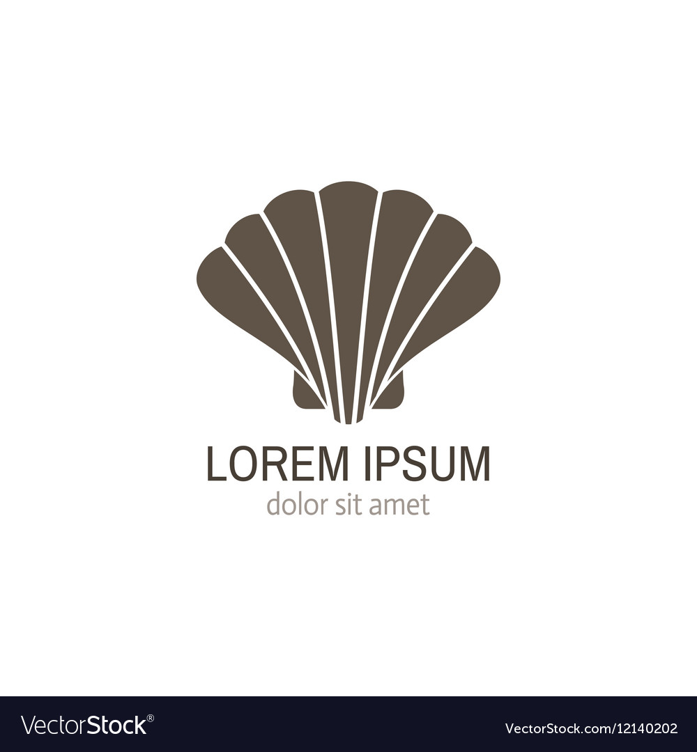 sea shell logo template vector image