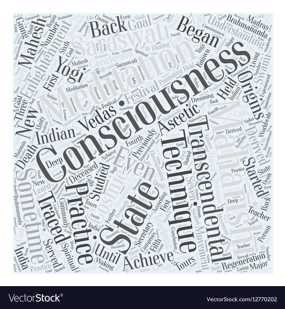 Transcendental Meditation Word Cloud Concept Vector Image