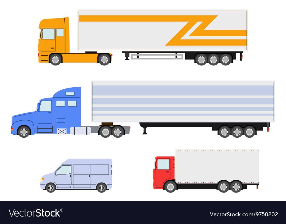 Truck set vector image