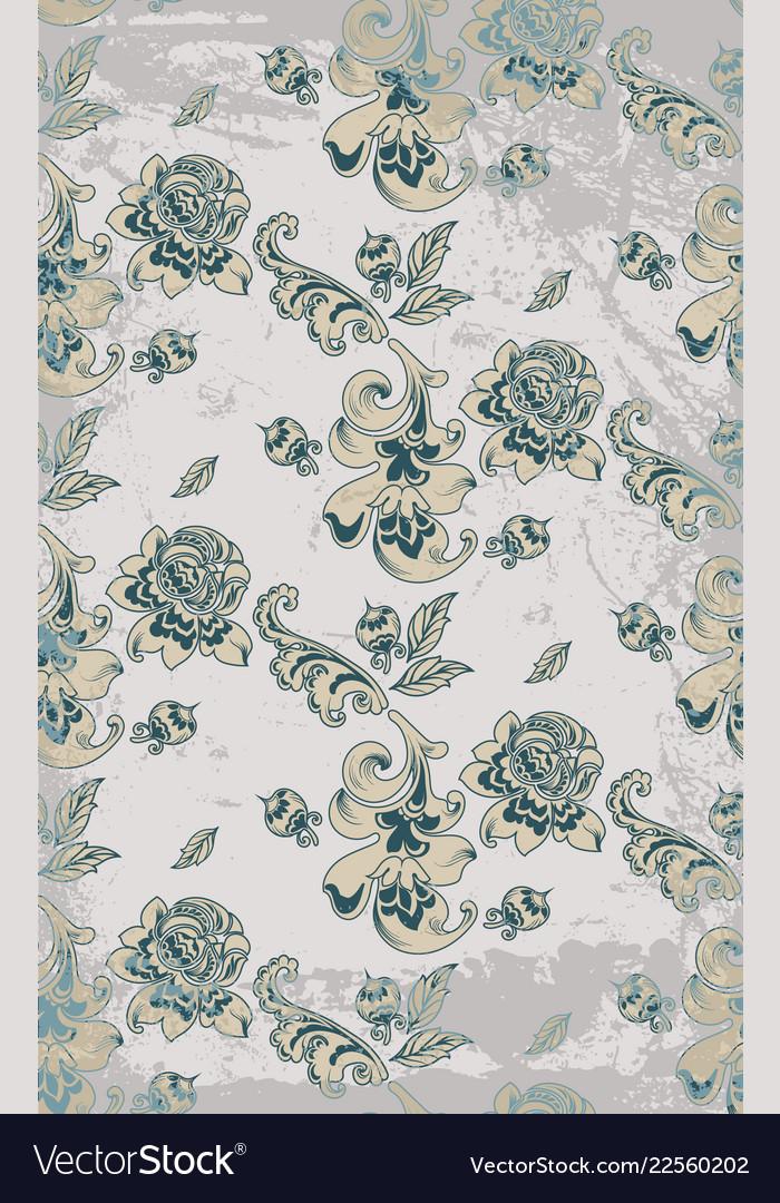 Vintage retro roses damask pattern luxury