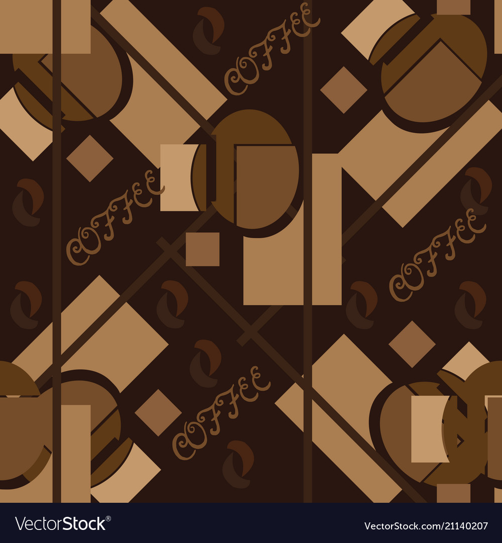 Abstract seamless pattern in coffee tones