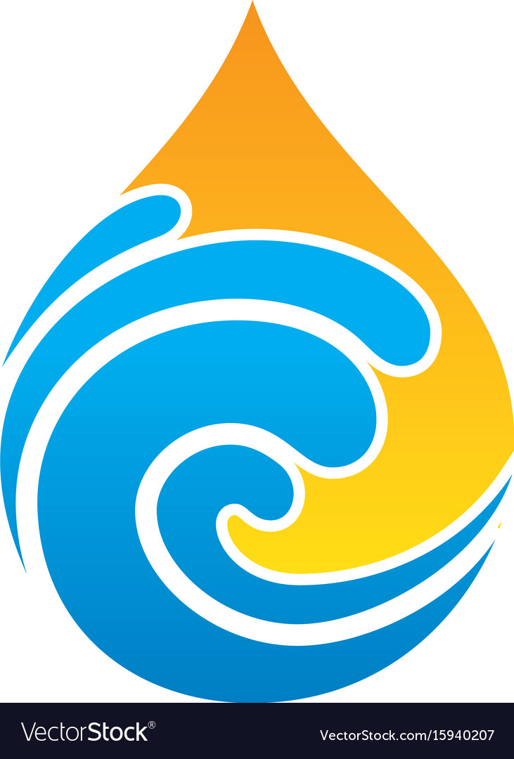 Abstract wave waterdrop style logo