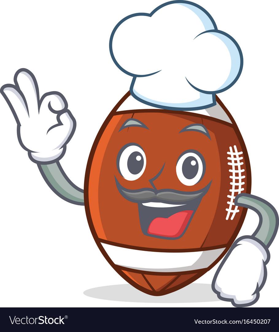 Chef american football character cartoon vector image