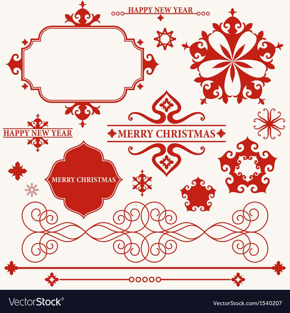 Christmas Vintage vector image