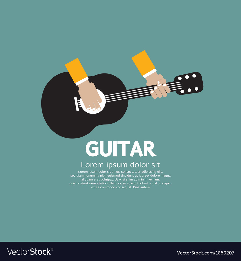 Guitar Playing vector image