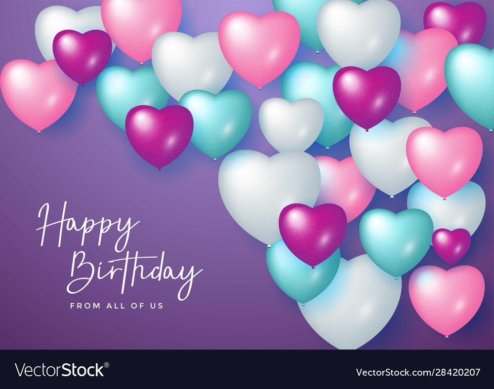 Happy birthday celebration design for greeting